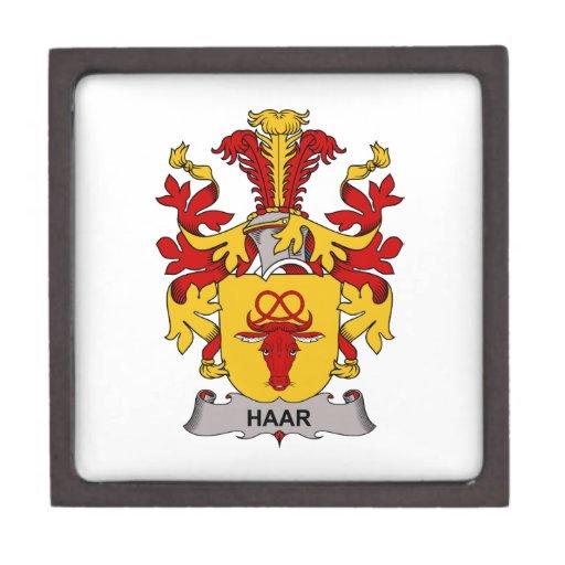 Escudo de la familia de Haar Caja De Regalo De Calidad