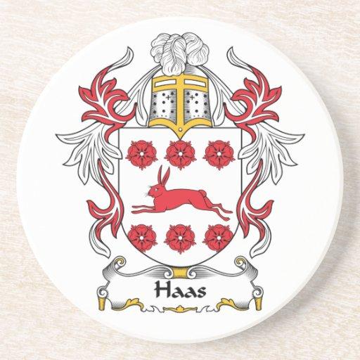 Escudo de la familia de Haas Posavasos Diseño
