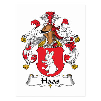 Escudo de la familia de Haas Postal