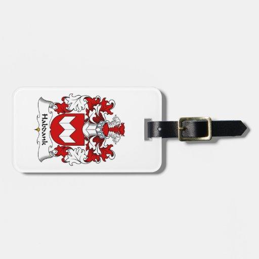 Escudo de la familia de Habdank Etiquetas Bolsas