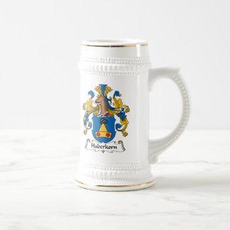 Escudo de la familia de Haberkorn Jarra De Cerveza