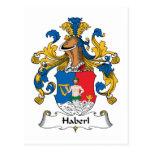Escudo de la familia de Haberl Tarjeta Postal
