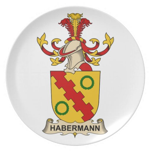 Escudo de la familia de Habermann Platos Para Fiestas
