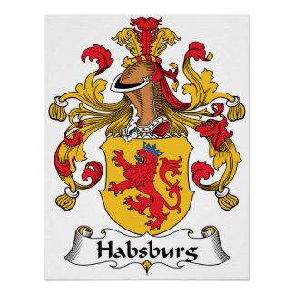 Escudo de la familia de Habsburgo Poster