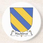 Escudo de la familia de Hackbret Posavasos Para Bebidas
