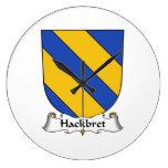 Escudo de la familia de Hackbret Relojes De Pared