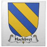 Escudo de la familia de Hackbret Servilletas