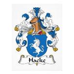 Escudo de la familia de Hacke Anuncio Personalizado