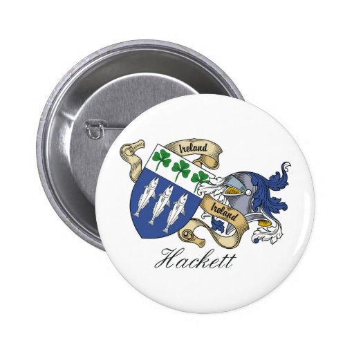 Escudo de la familia de Hackett Pin Redondo 5 Cm