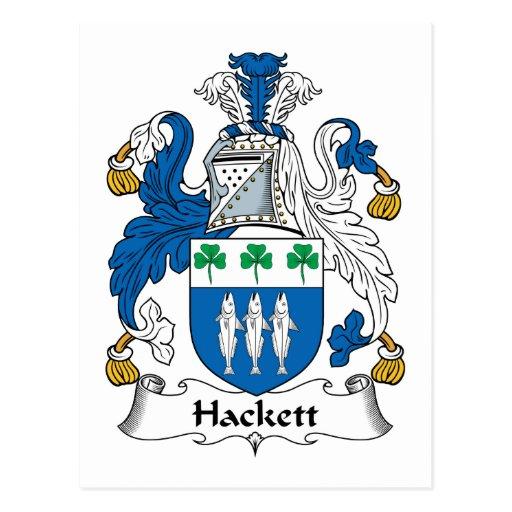 Escudo de la familia de Hackett Tarjeta Postal