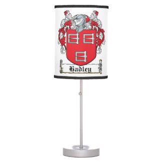 Escudo de la familia de Hadley Lámpara De Escritorio