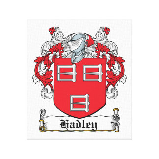 Escudo de la familia de Hadley Impresiones De Lienzo