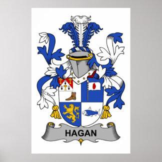 Escudo de la familia de Hagan Posters