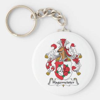 Escudo de la familia de Hagemeister Llavero Redondo Tipo Pin