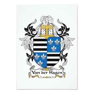 """Escudo de la familia de Hagen del der de Van Invitación 5"""" X 7"""""""
