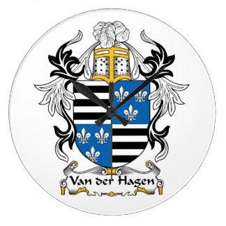 Escudo de la familia de Hagen del der de Van Relojes De Pared