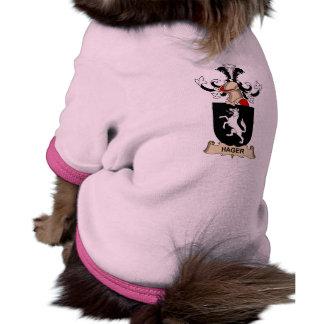 Escudo de la familia de Hager Camisetas De Perrito