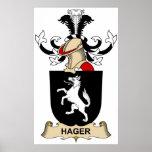 Escudo de la familia de Hager Impresiones
