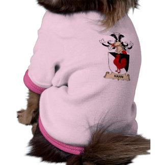 Escudo de la familia de Hahn Camisetas De Perrito