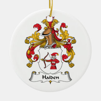 Escudo de la familia de Haiden Adorno Redondo De Cerámica