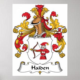 Escudo de la familia de Haiden Impresiones