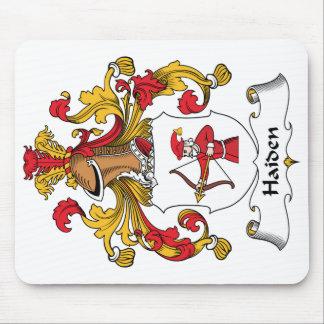 Escudo de la familia de Haiden Alfombrillas De Ratón
