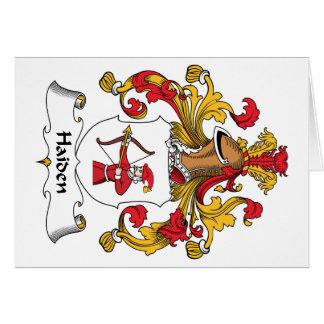 Escudo de la familia de Haiden Felicitaciones