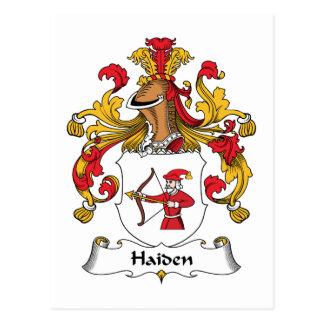Escudo de la familia de Haiden Postal