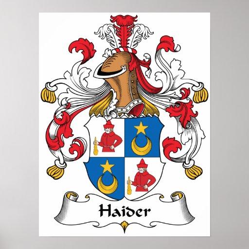 Escudo de la familia de Haider Impresiones