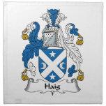 Escudo de la familia de Haig Servilleta Imprimida
