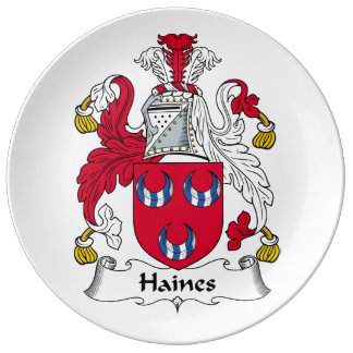 Escudo de la familia de Haines Platos De Cerámica