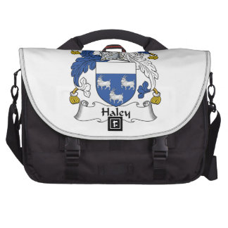 Escudo de la familia de Haley Bolsas Para Portátil