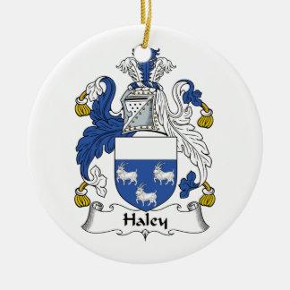 Escudo de la familia de Haley Ornamento De Navidad
