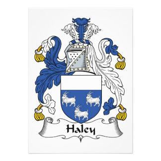 Escudo de la familia de Haley Invitación