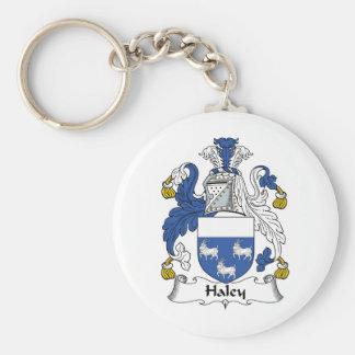 Escudo de la familia de Haley Llaveros Personalizados