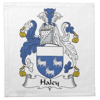 Escudo de la familia de Haley Servilletas