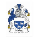 Escudo de la familia de Haley Tarjeta Postal
