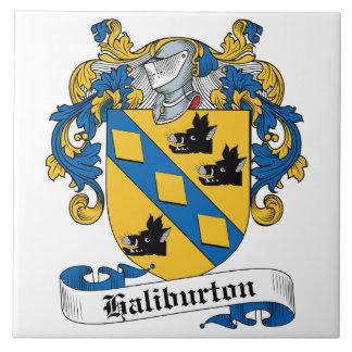 Escudo de la familia de Haliburton Azulejos Ceramicos