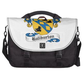 Escudo de la familia de Haliburton Bolsas Para Ordenador