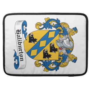 Escudo de la familia de Haliburton Funda Para Macbooks