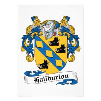 Escudo de la familia de Haliburton Comunicado Personalizado