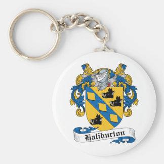 Escudo de la familia de Haliburton Llaveros Personalizados