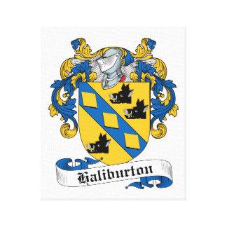Escudo de la familia de Haliburton Lienzo Envuelto Para Galerías
