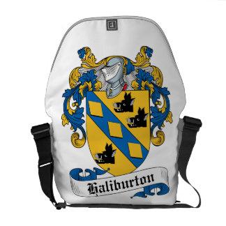 Escudo de la familia de Haliburton Bolsas De Mensajeria
