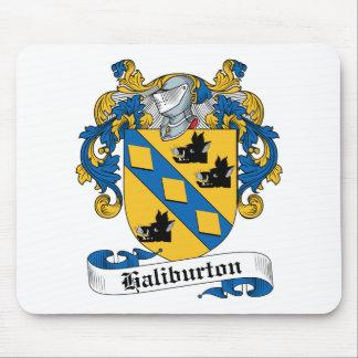 Escudo de la familia de Haliburton Alfombrillas De Ratones