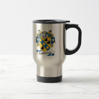 Escudo de la familia de Haliburton Tazas De Café