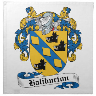 Escudo de la familia de Haliburton Servilleta