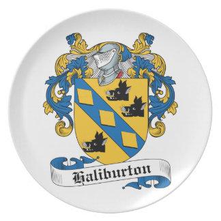Escudo de la familia de Haliburton Platos Para Fiestas