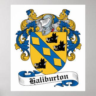 Escudo de la familia de Haliburton Posters