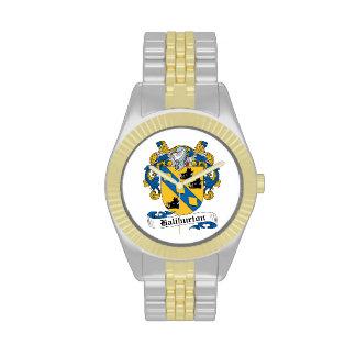 Escudo de la familia de Haliburton Reloj De Mano
